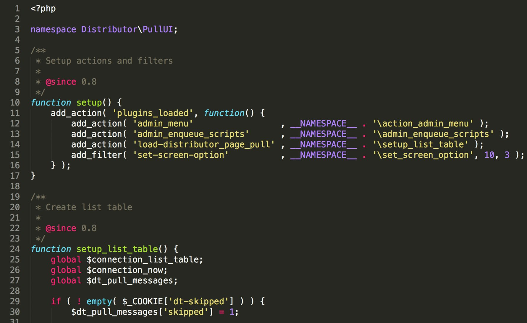 Finely crafted code built the WordPress way, with clear comments, and plenty of hooks.